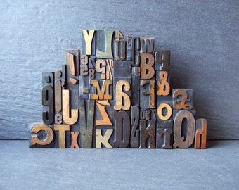 Alphabet Soup - The Big One With Number Croutons - Vintage Letterpress Collection