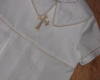 Boys Christening or Blessing Romper (Short Pant)