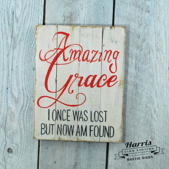 Signs You Re Amazing: Items Similar To Amazing Grace Pallet Sign, Amazing Grace
