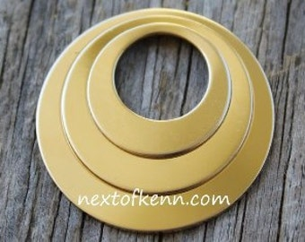 Rose Gold Fill Off Center Washer Set 20g 3 pieces