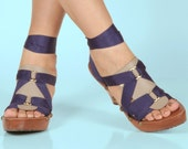 Vegan Leather Taupe Triangle Accessory for Mohop Interchangeable Sandals