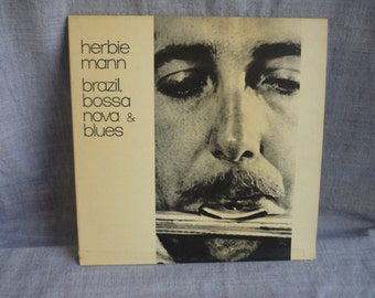 HERBIE MANN, Brazil, Bossa Nova & Blues, United Artists stereo 15009 vinyl LP album