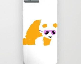 Panda with sunglasses  on the Phone Case - panda on iPhone 5S, iPhone 5C, iPhone 6S, iPhone 6 Plus, samsung galaxy s6, Panda gifts