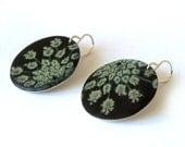 Queen Anne's Lace Photo Disc Earrings
