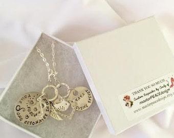 Bird Memorial Necklace - Pet Memorial Necklace, Hand Stamped Jewelry - Loss of Bird, Parrot, Parakeet, Canary