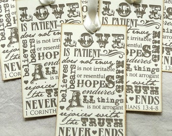 Love Is Patient Love Is Kind 1 Corinthians 13:4 Bible Verse Tags #136