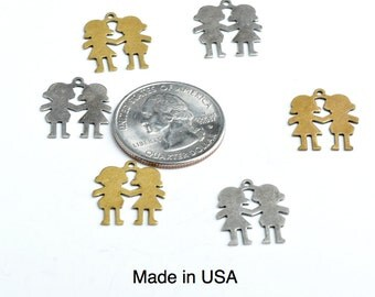 Best Friends Silhouette Charm,  pack of 4