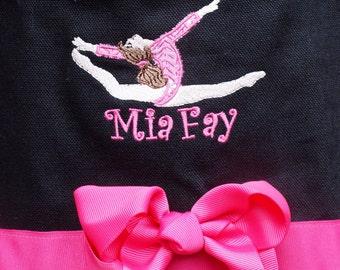 Custom Boutique Monogramed name Gymnastics TuTu Tote Bag