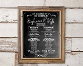 Chalkboard PRINTABLE Wedding Program