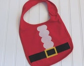 READY TO SHIP Santa 100% cotton appilque bib for baby and toddlers