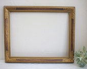 """Reserved for Caitlin Goodwin *Oct Wedding* 25"""" x 31"""" carved wood and gold frame, 10"""" x 17.5"""" vintage gold tray with bow detail, & two easels"""