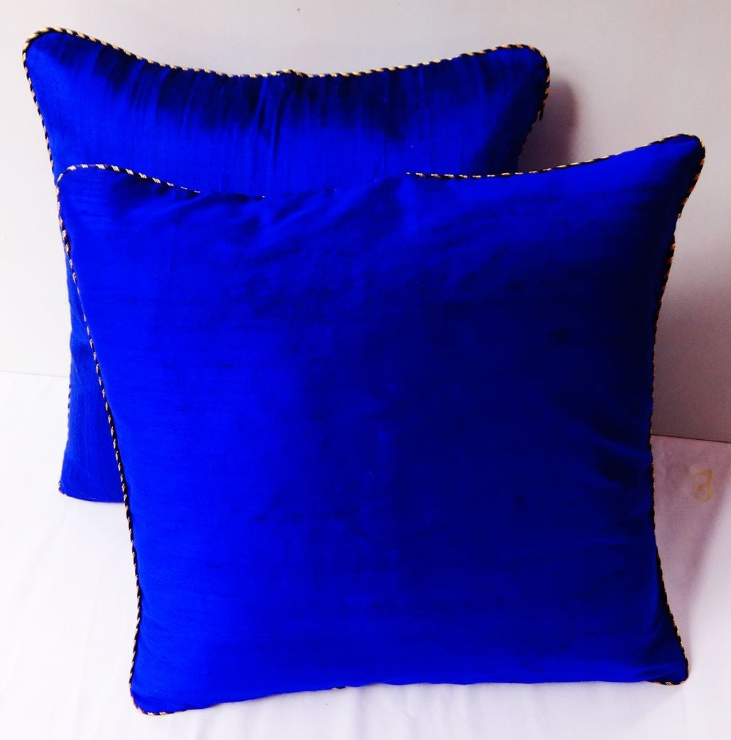 Royal Blue And White Throw Pillows : Royal Blue throw pillow 18 inch decorltive cushion covers.With