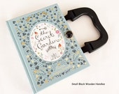 The Secret Garden Recycled Book Purse - Secret Garden Book Clutch - Book Cover Handbag