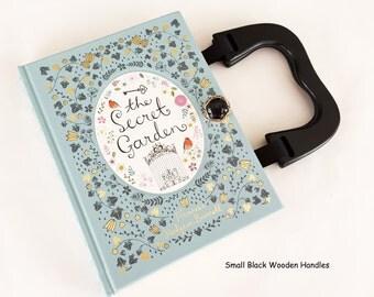 The Secret Garden Recycled Book Purse - Secret Garden Book Clutch - Book Cover Handbag - Purse made from a book - YA Book Pocketbook