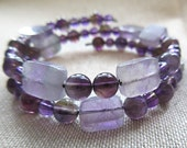 Physics Jewelry - Purple Planck Constant Bracelet - Amethyst and Fluorite - Nerdy Physics Science Teacher Valentine