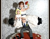 Deluxe Weight Lifting Wedding Cake Topper