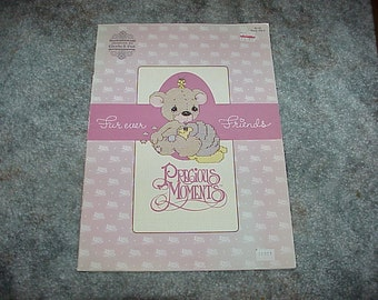1984--Precious Moments--Cross Stitch--Fur Ever Friends--Pattern Book--Furever Friends