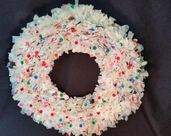 Upcycled Plastic Bag Wreath
