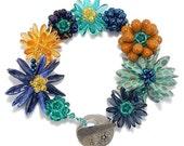 Beaded Bead DIY Flower Bracelet Kit, Jewelry Making Kit, Forever Flowers