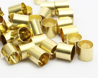 50 Raw Brass Tubes (6x6mm) Bs 1530