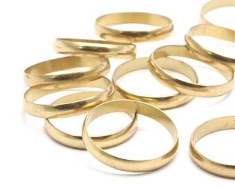 Brass Ring Setting - 24 Raw Brass Ring Settings (17mm) Bs 1140--r015
