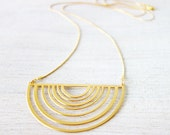 Dawn Necklace, half circle necklace, signature necklace, cosmic jewelry