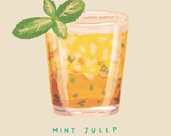 Mint Julep - Illustration Print