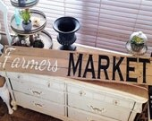 Reclaimed Pallet-Vintage FARMER'S MARKET Sign-Country FarmHouse Home Decor-Repurposed Wood Wall Hanging-Country Chic Living