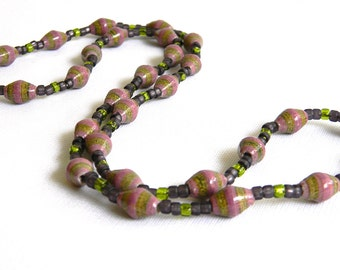 Paper Bead Jewelry - Necklace - #1419