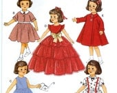 DOLL CLOTHES PATTERN - Fits American Girl Dolls - 18 Inch Dolls / Vintage Style 50's Clothes / Shirley Temple