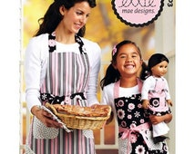 MATCHING APRON PATTERN / Make Boutique Style Aprons For Mom - Girl - 18 Inch Doll / American Girl Grace