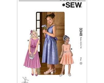 GIRLS DRESS PATTERN / Make Fancy Dress -First Communion -Flower Girl / Size 4~8