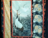Greeting the moon quilt kit from Red Rooster Fabric fabric designed by Keiichi Nishimura, pattern by June Pease, made by Pat