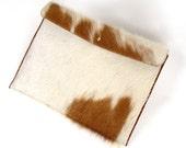 Leather Sleeve ~ Hair on Hide Case ~ Brazilian Cowhide ~ Brown Leather Cover ~ Leather ipad case ~ Leather ipad mini case ~ ipad mini sleeve