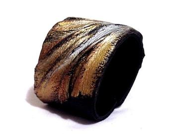 50% OFF SALE Metallic colors fashion leather bracelet. Leather cuff