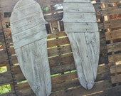 XL Reclaimed wood angel wings