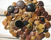 LARGE Lot of 100 Vintage Vegetable Ivory and Celluloid Buttons