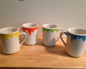 Upcycled Mug Colored Zigzags