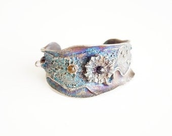 amazing sculptures  Oceania Sea Star  Bracelet cuff bronze silver Made  by  Metal Art Studio Canada