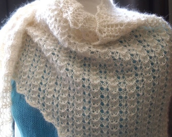 Instant Download pdf Hand Knitting Pattern  - A Simple Wrap