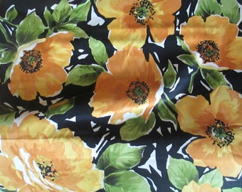 Large Gold Flower Breezy Fabric - P and B Textiles