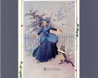 1910 Antique Print - How They Encountered the Flutterbudgets from The Emerald City of Oz Book