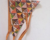 Reversible Head Scarf/ Head Covering/ Vintage Patchwork Fabric