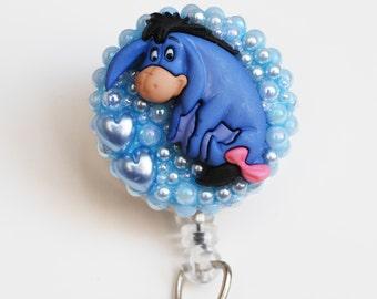 Winne The Pooh's Sweet Eyeore ID Badge Reel - ID Badge Holder - Badge Clip - Zipperedheart