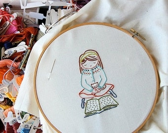 "PDF embroidery pattern ""Book Club Stitchettes"""