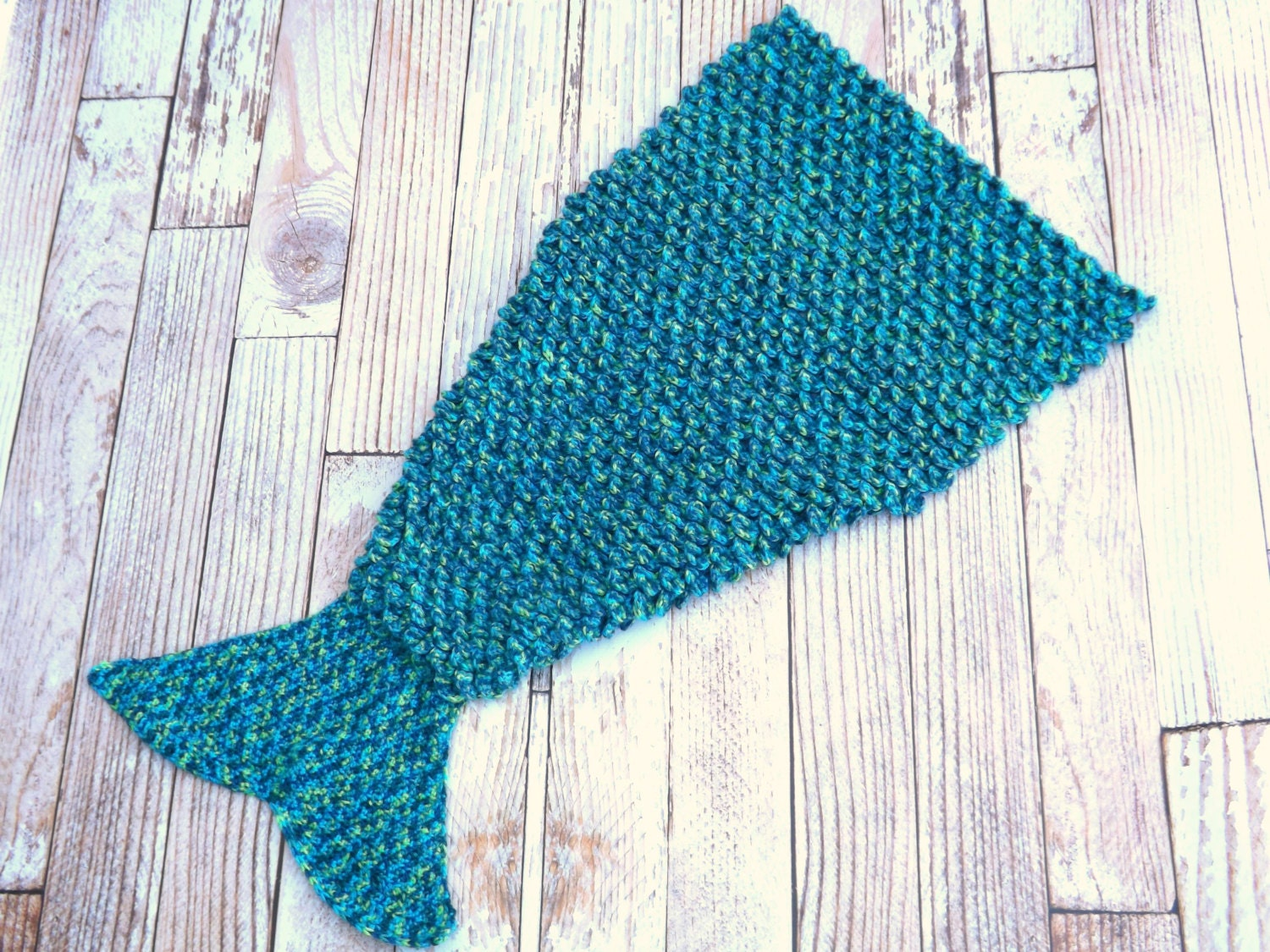 CROCHET PATTERN Mermaid Tail Blanket by JensTangledThreads