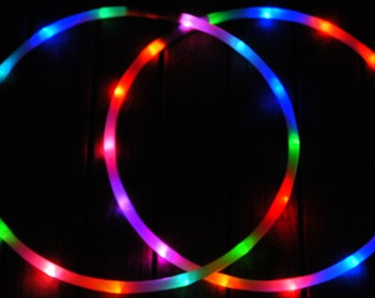 """LED 'Mini Twins' Set - 3/4""""-OR- 5/8"""" Polypro. 4 Available Color Options! Made in any size 20"""" - 26"""". Free 3M Inside Grip Option!"""