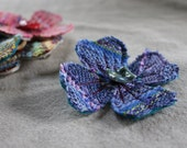 Handwoven Hair Flower - Blue Moon