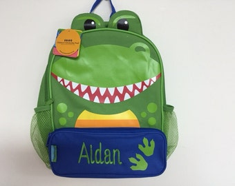 Personalized Stephen Joseph Sidekicks New Dinosaur Backpack