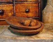 Primitive Wooden Bowls Beeswax Melts, Wood Bowls, Dough Bowl, Scented Beeswax tarts, Wax Tarts Wax Melts, Primitive Decor, Rustic Home Decor